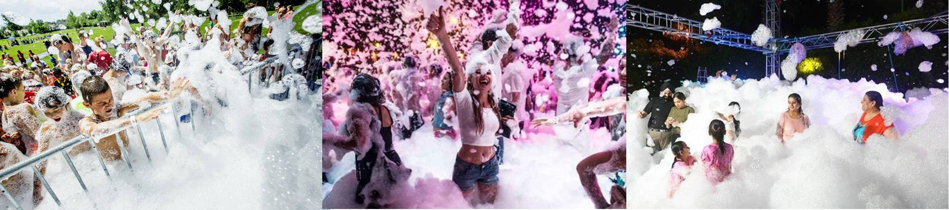 Foam party machine rental in Houston, Texas