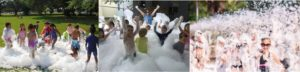 Foam party in Houston, Texas