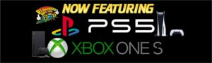 PlayStation 5 and XBox One S consoles